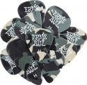 Musikinstrumenter, Ernie Ball EB-9223 Camo Pick Heavy (12p), 12-pack Camo picks Heavy