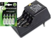 Batterilader inkl. 4 stk. 2100mAh