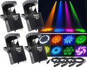 Scanner sæt med 4 stk. IntiScan 300 30W LED inkl. alle kabler - Vores mest solgte!