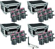 BeamZ BBP60 Uplight lamper - Pakke med 4 sæt