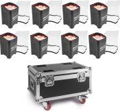 BeamZ BBP96 Batteri Uplight Par 6x 12W - Pakke med 8 stk.