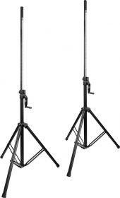 Vonyx LS93 Professional Wind-up højttalerstativ - Pakke med 2 stk.