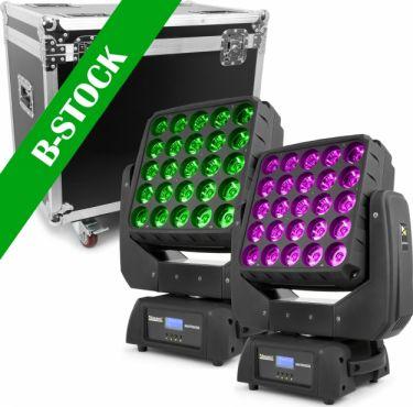 "Matrix55 LED Moving head 2pcs in Flightcase ""B-STOCK"""