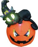 Halloween, Europalms Inflatable figure Witch pumpkin, 150cm