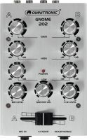 DJ Equipment, Omnitronic GNOME-202 Mini Mixer silver