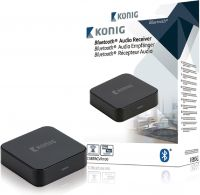 König Audio Modtager Bluetooth 3.5 mm Sort, CSBTRCVR100