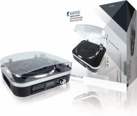 König Turntable SD / LP / USB / Radio / MP3 1.6 W Black, HAV-TT25USB
