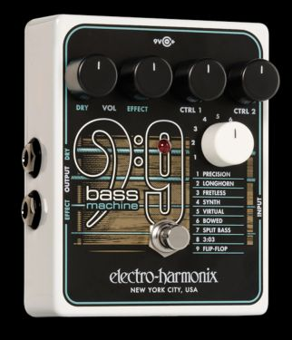 Electro Harmonix Bass9 Bass Machine, Turns your electric guitar int