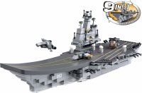 Sluban Byggeklodser Aircraft Carrier Serie 9-in-1 Aircraft Carrier, M38-B0537