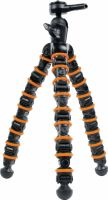Stativ, Camlink Flexible Tripod 32.5 cm 2.5 kg Black/Orange, CL-TP150