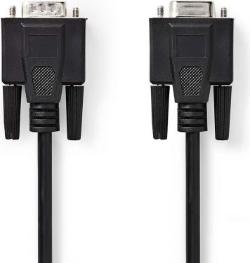 Nedis VGA Cable | VGA Male - VGA Female | 10 m | Black, CCGP59100BK100