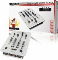 König DJ-Mixer 2-Kanaler, KN-DJMIXER20