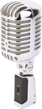 Elvis Mikrofon PDS-M02 i flot retro design, krom