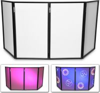 DB2 Foldable DJ Screen 120 x 70 White (4 Panels)