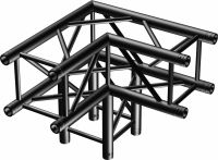 P30-C30 Truss 3-way corner 90º Black
