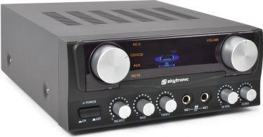 Stereo Hi-Fi Forstærker 2x50W med Display / Karaoke, Sort