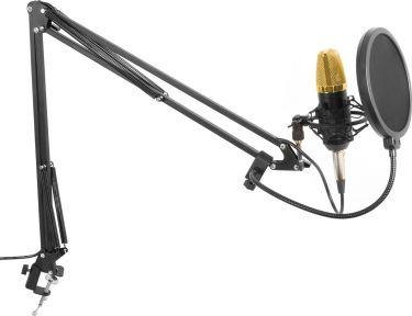 CMS400B Studio Sæt / Kondensatormikrofon med stativ og popfilter