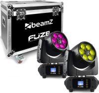 Fuze610Z Wash 6x 10W LED Moving Head Zoom Set 2 Pieces in Flightcase