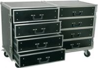 PD-FA4 8 Drawer Engineering Flightcase