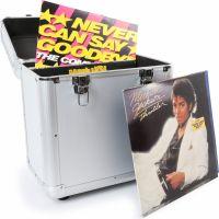 "RC80 12"" Flightcase til plader / Vinyl Record Case, Sølv"