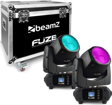 Fuze75B Beam 75W LED Moving Head Set 2 Pieces in Flightcase