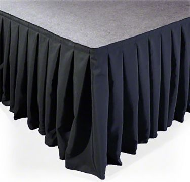 SKIRT-V40 Stage Skirt Velvet-look Pleated 6m x 40cm
