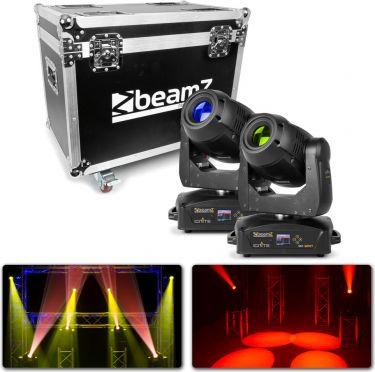 BeamZ professional IGNITE180 Spot LED Moving Head 2 stk. i Flightcase
