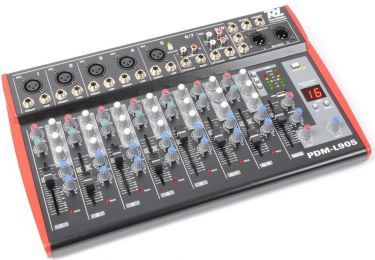 Power Dynamics PDM-L405 9-kanals musik mixer / Phantom power / Echo / MP3