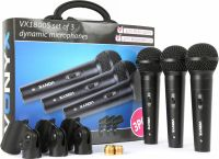 VX1800S Dynamic Microphone set 3 pieces