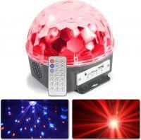 Magic Jelly DJ Ball 6x 1W LEDs SD/USB/MP3