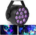 Diskolys & Lyseffekter, PartyPar UV 12x1W UV DMX