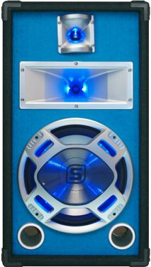 "Disco PA speaker 10""/25cm 400W LED blue"