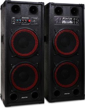"""Aktivt højttalersæt SPB-210 / 2x10"""" bas / 2x600W / USB/MP3-afspiller (til ungdomsværelset / hjemmebr"""