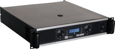 Effektforstærker PDA-B2500 professionel m. aktivt delefilter 2x1200Wrms
