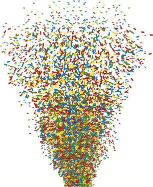 CNF1 Confetti Multi Colour 1KG