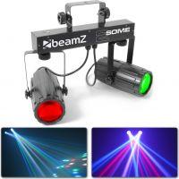 2-Some LED lyssæt med 2 lyseffekter i 1 / 2x 57 RGBW LED'er og musikstyring
