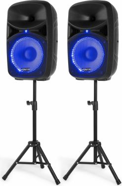 VPS102A Plug & Play 600W Speaker Set with Stands