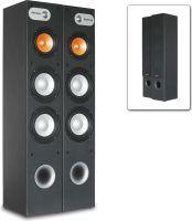"""Hi-Fi højttalersæt SHFT655B, 3-vejs gulvmodel med 2x 8"""" + 1x 6.5"""" bas / 500W, sort"""