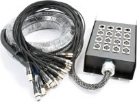 StageBox Multikabel 12-input / 4-output XLR, 15 meter