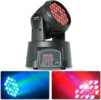 BeamZ MHL108MK3 Mini Moving Head 18x 3W (3-1 RGB)