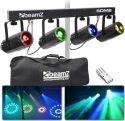 4-Some LED lyssæt med 4 lyseffekter i 1 / 4x 57 RGBW LED'er /  DMX og Musikstyring inkl. taske