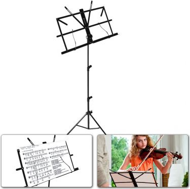 Music Sheet Stand foldable black