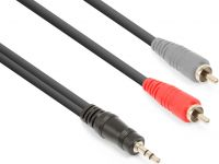 CX334-6 Cable 3.5mm Stereo- 2x RCA Male 6m