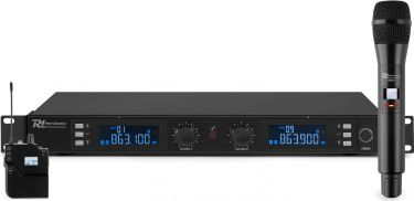 PD632C 2x 20-Channel Digital UHF Wireless Microphone System Combi