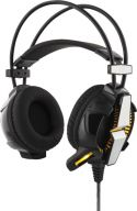 Gaming, Deltaco GAMING Stereo Headset Vibration, LED, 32 Ohm, Sort