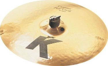 "Zildjian 17"" K Custom Fast Crash, Zildjians K Custom-bækkener frems"