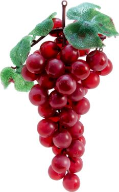 Europalms Grapes with leaves, artificial, red