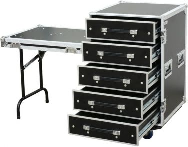 PD-FA6 5 Drawer 3U Engineer Case + Table