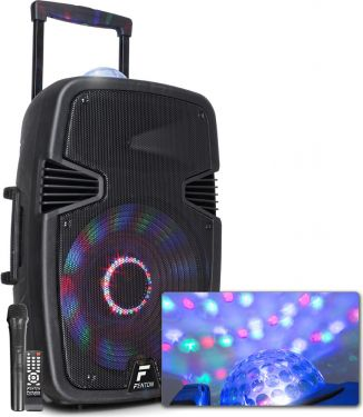 """FT15JB Active Speaker 15"""" 800W with light show"""