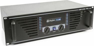"""Effektforstærker SKY-1000B """"god til semi prof. brug"""" 2x500W, sort"""